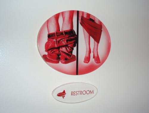 很有创意的洗手间标志 高清图片