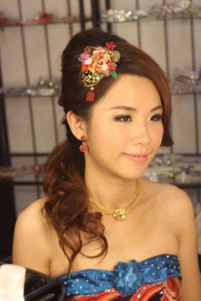 中式新娘敬酒服发型_图片搜索_发型设计