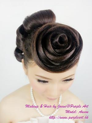 新娘发型分享 - 玫瑰花头