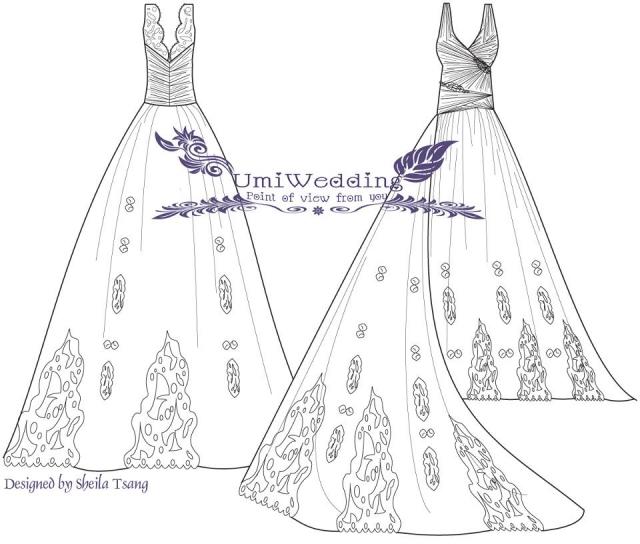 度婚纱手绘设计图_度婚纱手绘设计图分享展示