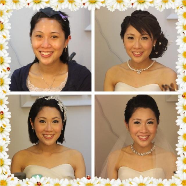 短发新娘, 妆前妆后,玫瑰头