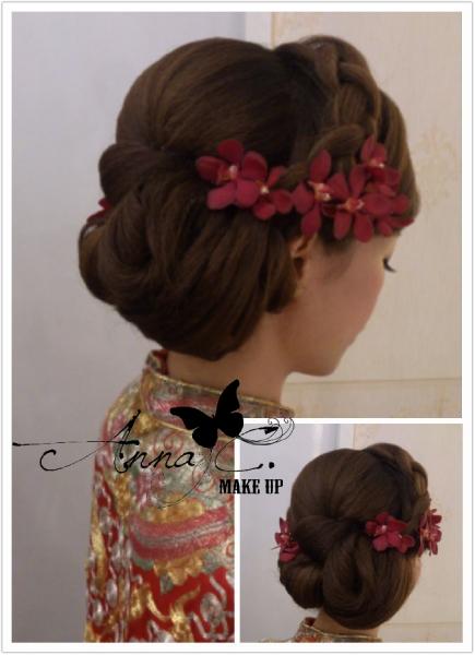 新娘鲜花发型分享
