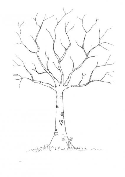 指纹树图片素材