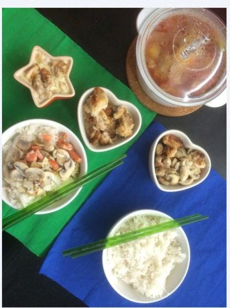 白汁焗雞蘑菇飯