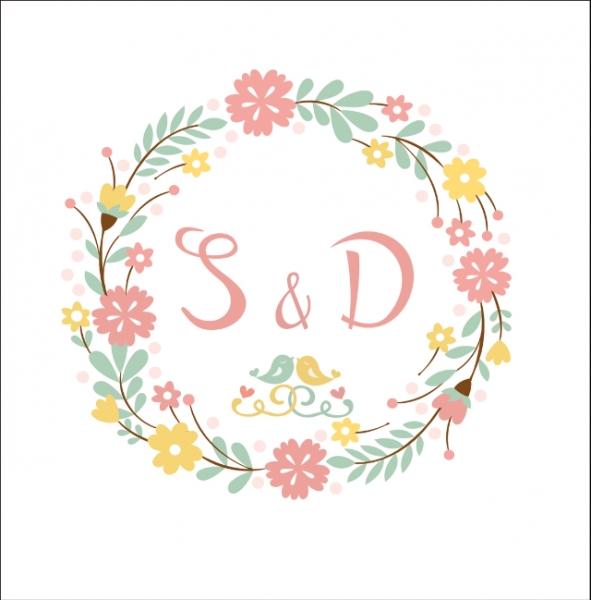 logo素材花环