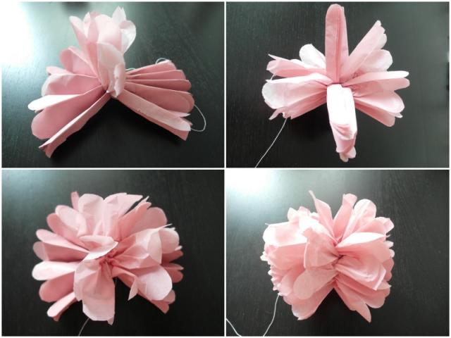 剪简单纸花制作步骤
