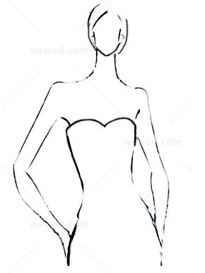 女人手绘背面婚纱