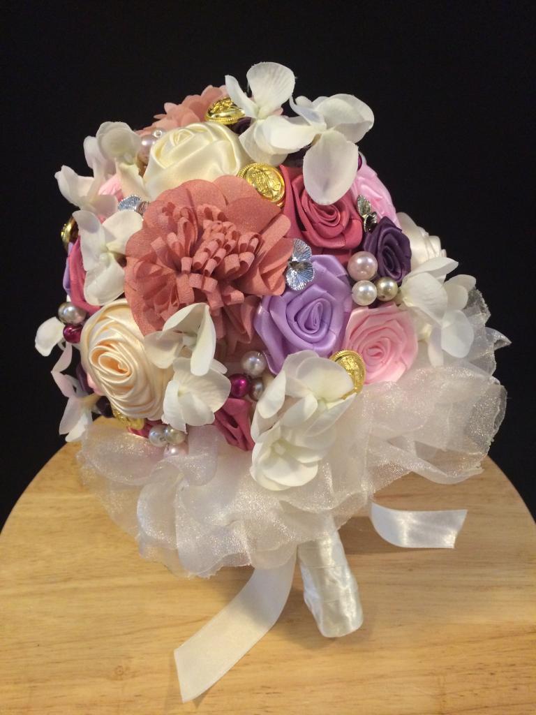 结婚花球的折法步骤图