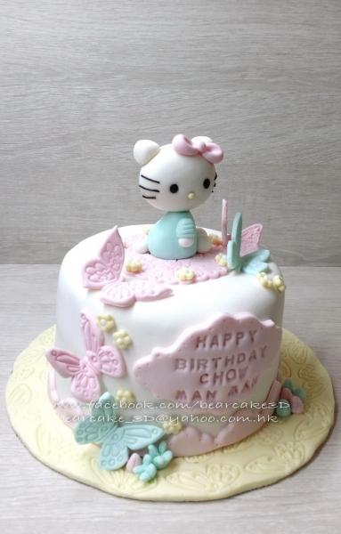 """kitty 蝴蝶"" 3d立体蛋糕"