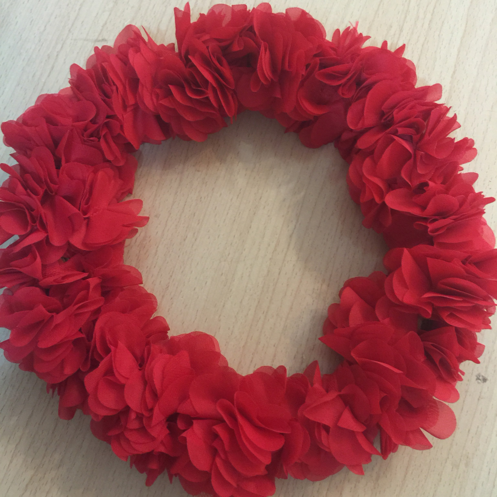 丝带编织花朵方法图解