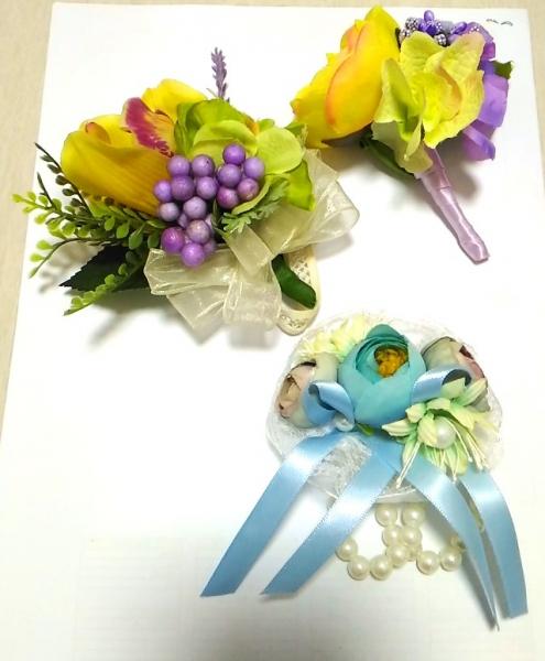 车头大蝴蝶, 喜字贴, 长辈BowTie, 襟花手花, 鞋垫图片
