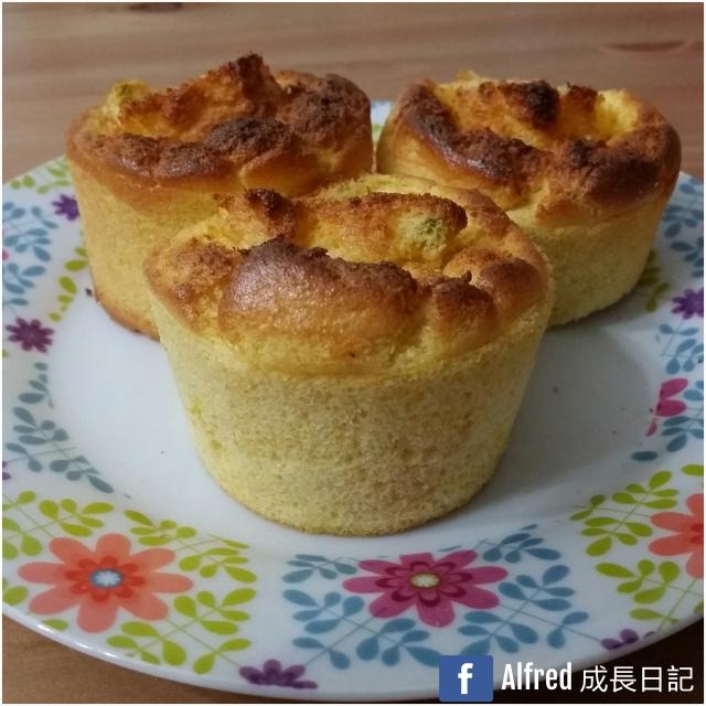「家事達人」Alfred媽食譜分享-南瓜杯子蛋糕