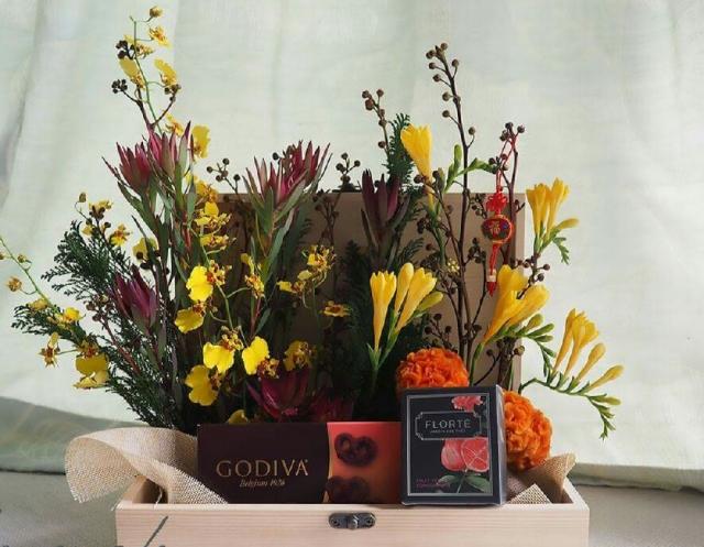除了送花束給父母外,另外的……花的選擇