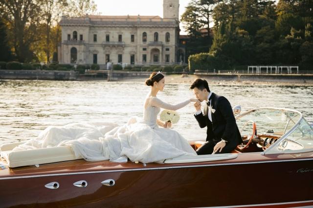 明星結婚:Janice Man米蘭湖畔古堡舉行浪漫童話婚禮