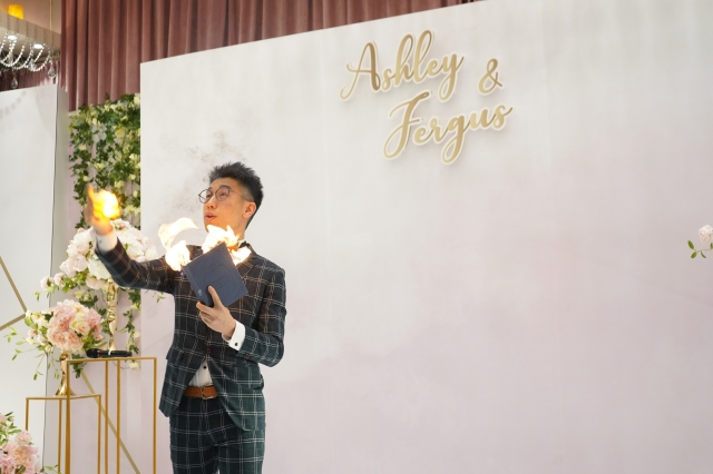 婚禮司儀送魔術表演