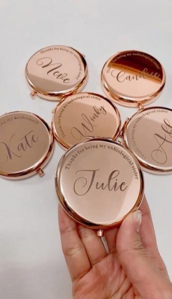 超高CP值~送給姊妹團的小禮物;玫瑰金小鏡盒