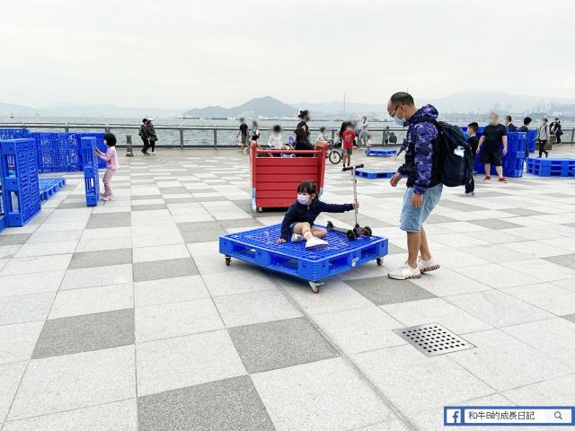 【戶外放電】玩卡板、砌卡板迷宮、滑板車、免費放電空間 | 卑路乍灣海濱長廊公園
